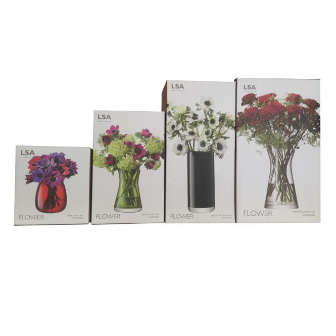 Vase für gemischte Blumensträuße, klar
