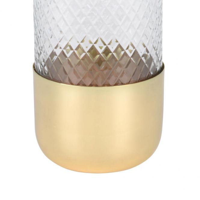 Windlicht Glas Marylebone goldfarben, M
