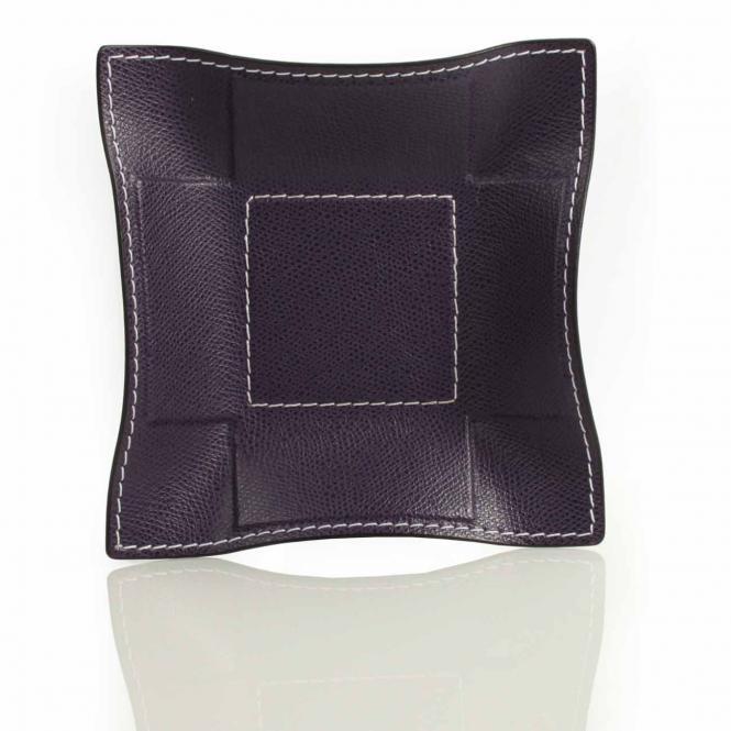 Lederablage Jack quadratisch S, violett