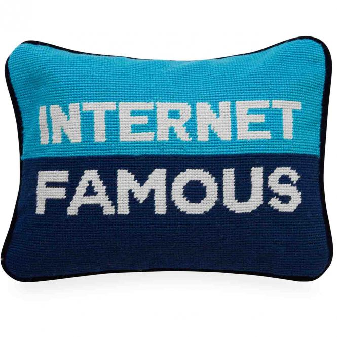 Kissen Internet Famous Needlepoint Throw Pillow von Jonathan Adler