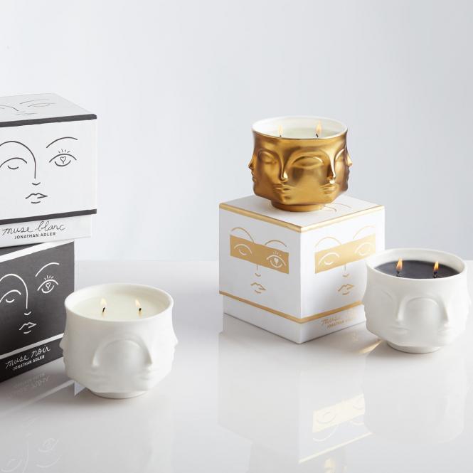 Kerze Muse white von Jonathan Adler