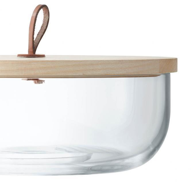 Ivalo Behälter mit Holzdeckel, h:11 cm