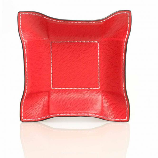 Lederablage Jack quadratisch S, rot