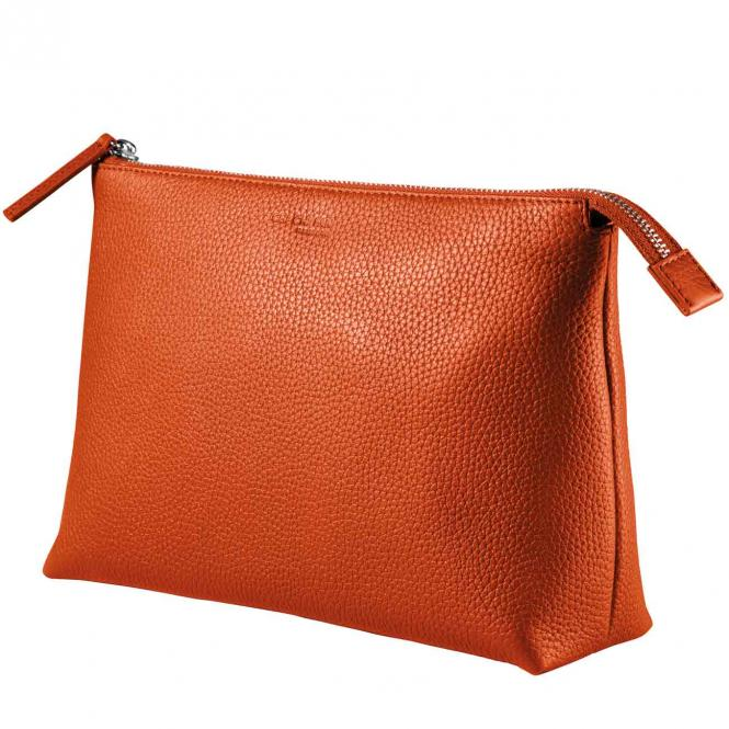 Kulturtasche orange, groß