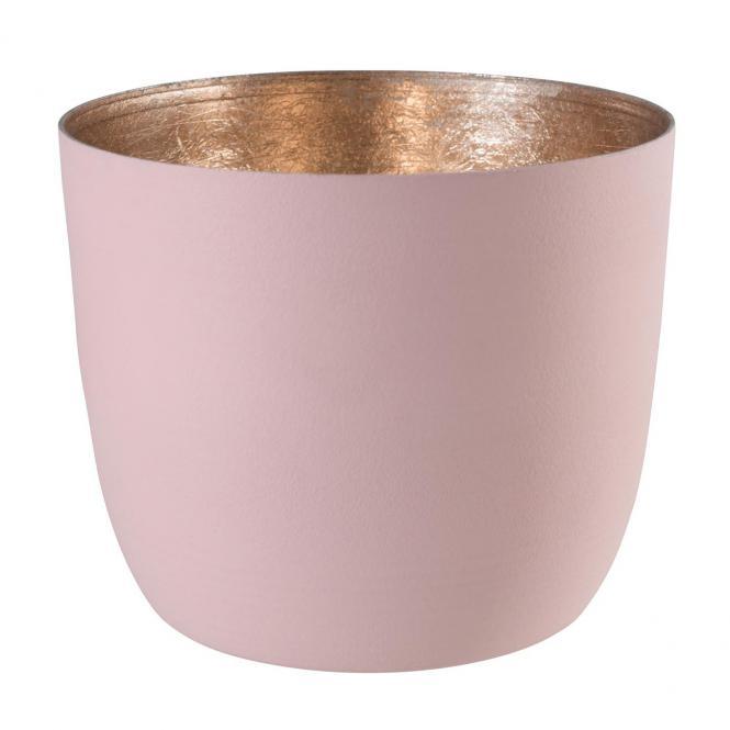 Teelichthalter Madras M blush/nudegold