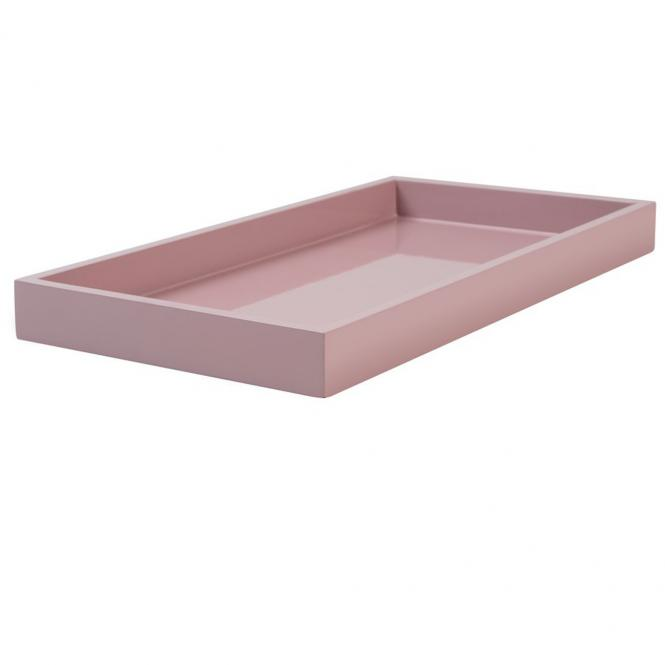 Lacktablett SPA small rechteckig, dusty rose