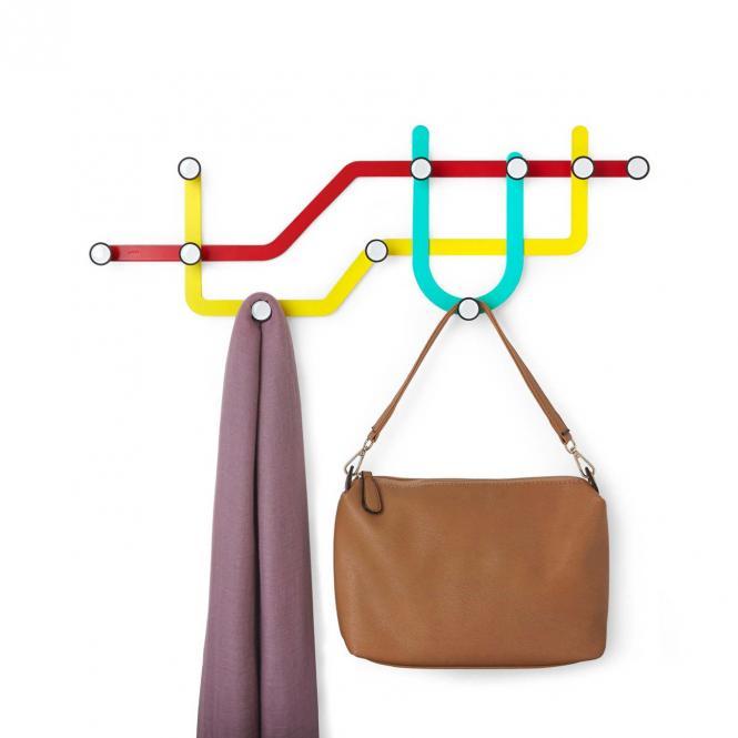Wandhaken Subway, mehrfarbig