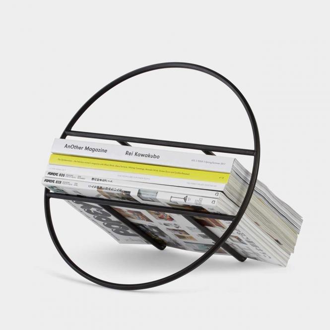 Magazinständer Hoop, schwarz