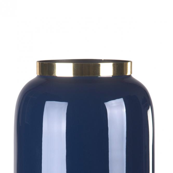 Saigon Vase M, midnight blue/goldfarben