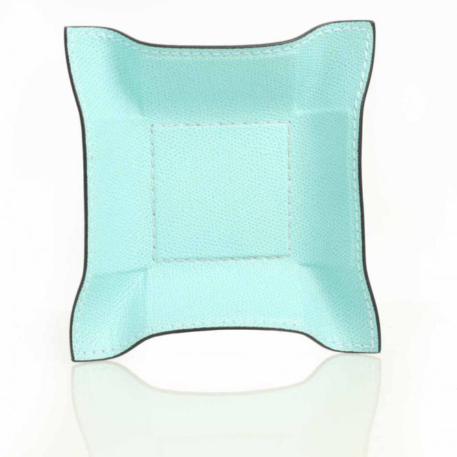 Lederablage Jack quadratisch S, light blue