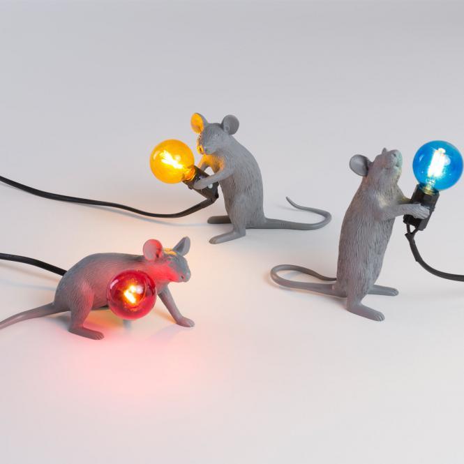 """""""Mouse Lamp"""" Mac, Sitzend, grau"""