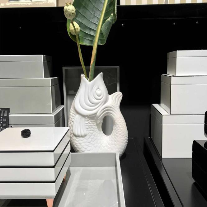 Vase/Krug Monsieur Carafon schwarz, groß