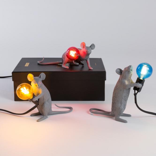 """""""Mouse Lamp"""" Lop, Liegend, grau"""