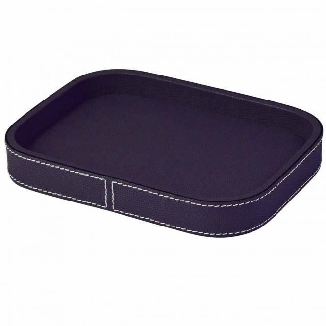 Lederablage Polo rechteckig violett