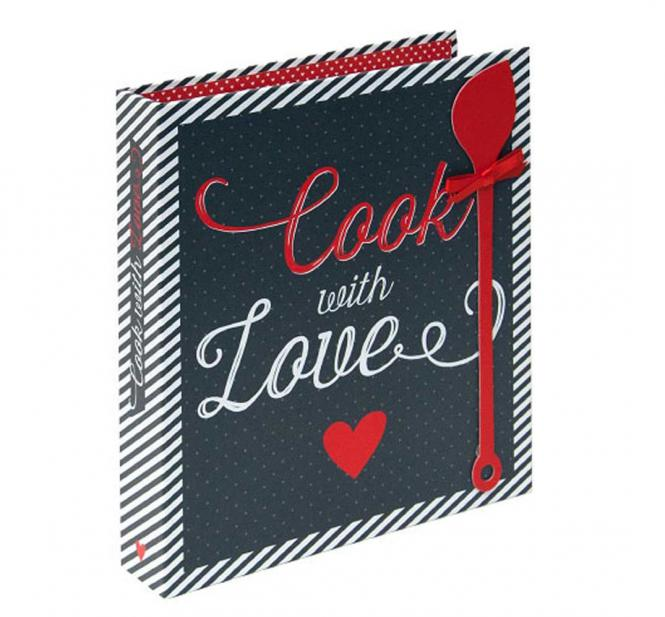 "Rezeptbuch ""Cook with Love"", dunkelblau"