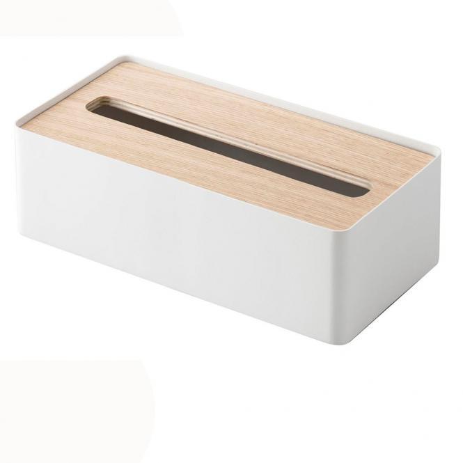 Box für Kosmetiktücher, weiß