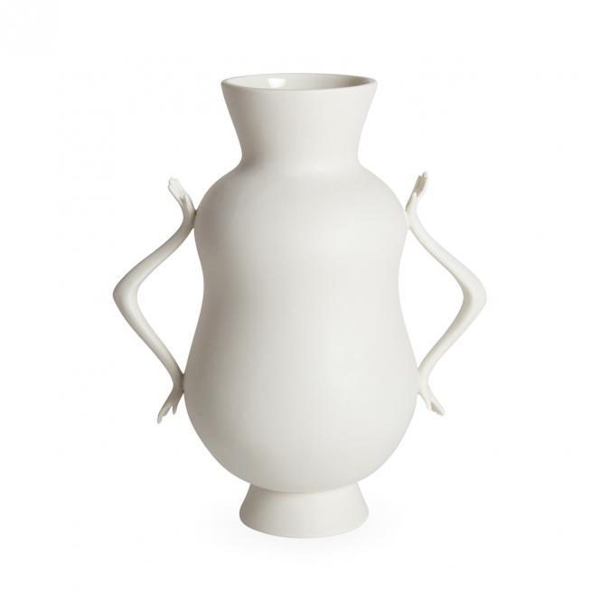 Eve Double Bulb Vase, weiss von Jonathan Adler