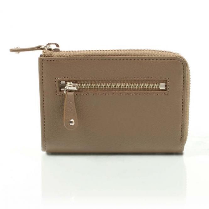 Small Half Zip Wallet taupe