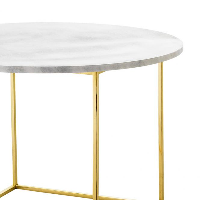 Tisch aus Marmor mit goldfarbenem Gestell