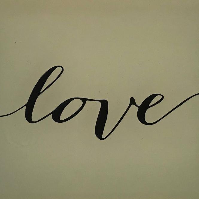 """Glasschälchen/ Dekoteller """"Love"""""""