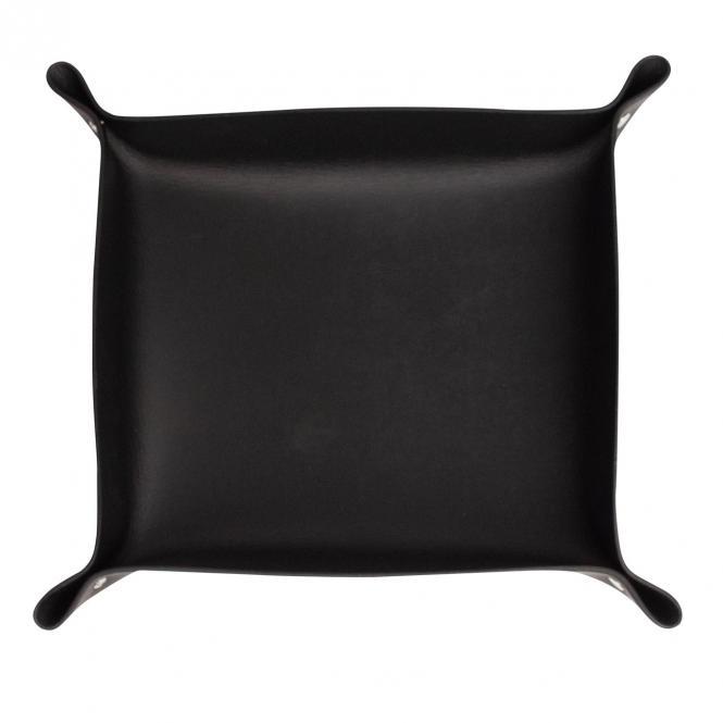 Lederschale Taschenleerer Corium 23 x 21 cm, schwarz
