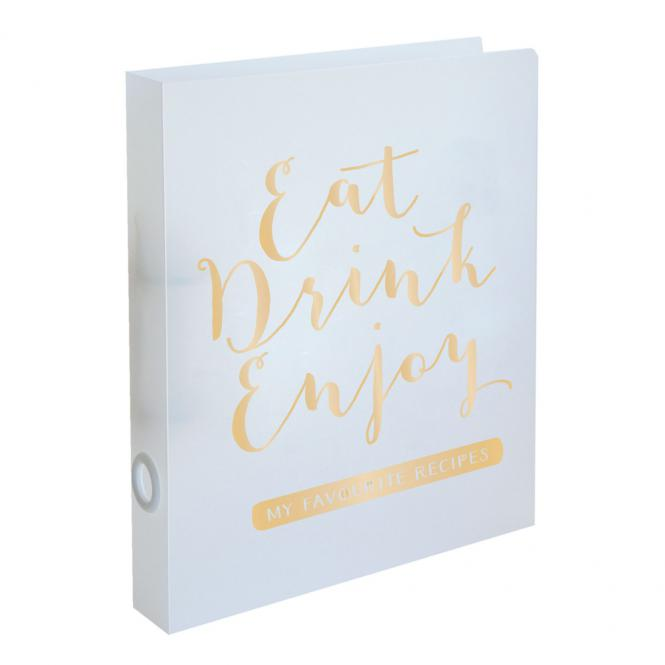 "Rezeptordner ""Eat, Drink, Enjoy"" DIN A4"