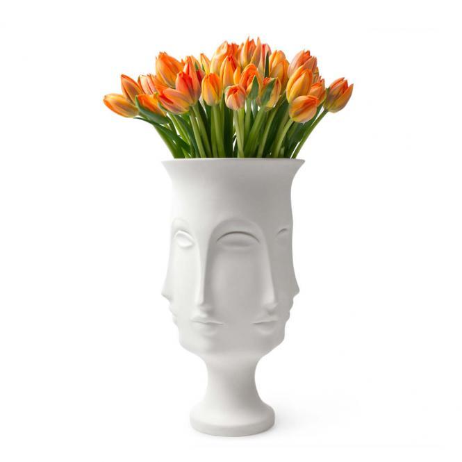 Giant Dora Maar Vase 38cm, weiß von Jonathan Adler