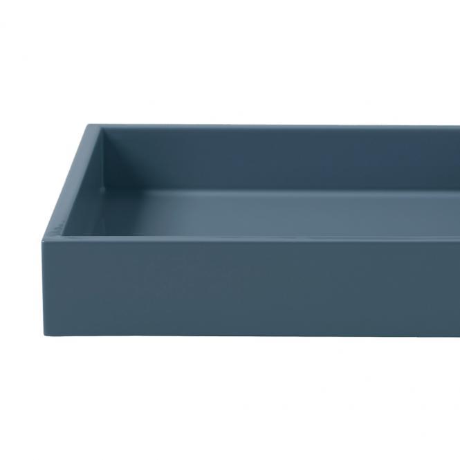 Lacktablett small blue indigo