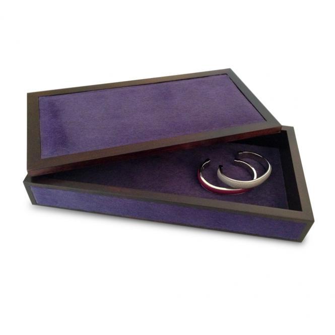 Lederbox Milano Fellleder rechteckig, violett