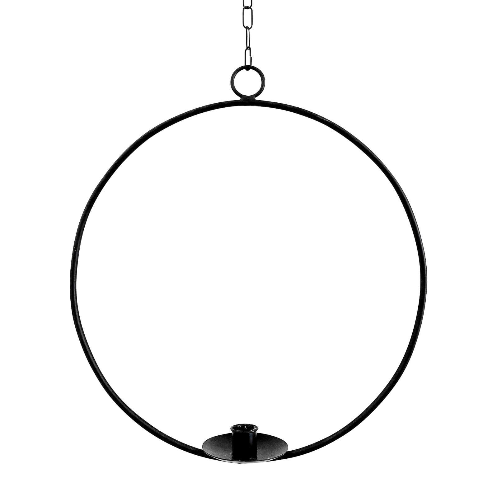 Dekoring mit Vase/Kerzenhalter Ijus Rund, schwarz