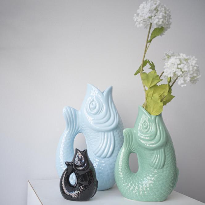 Vase/Krug Monsieur Carafon mint cream, klein