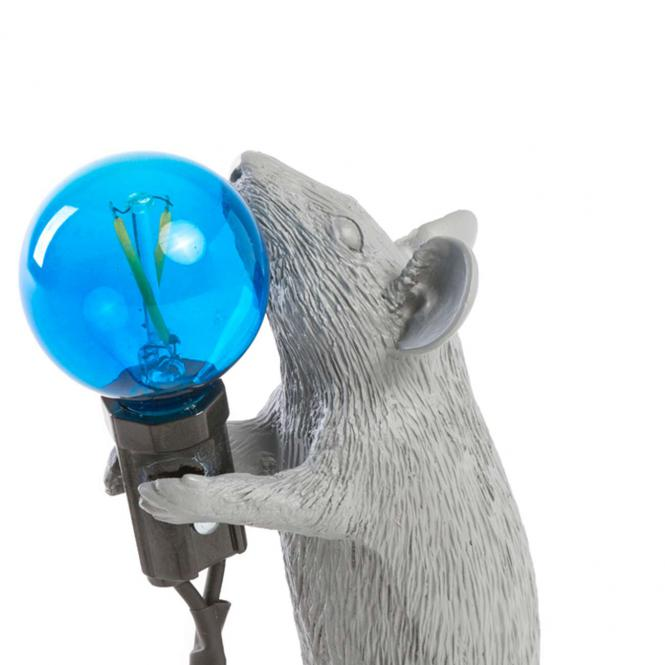 """Mouse Lamp"" Step, Stehend, grau"