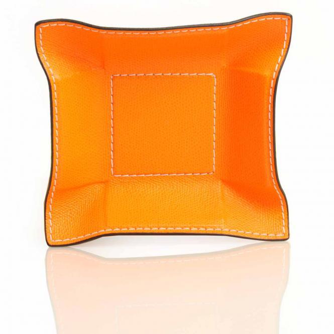 Lederablage Jack quadratisch S, orange