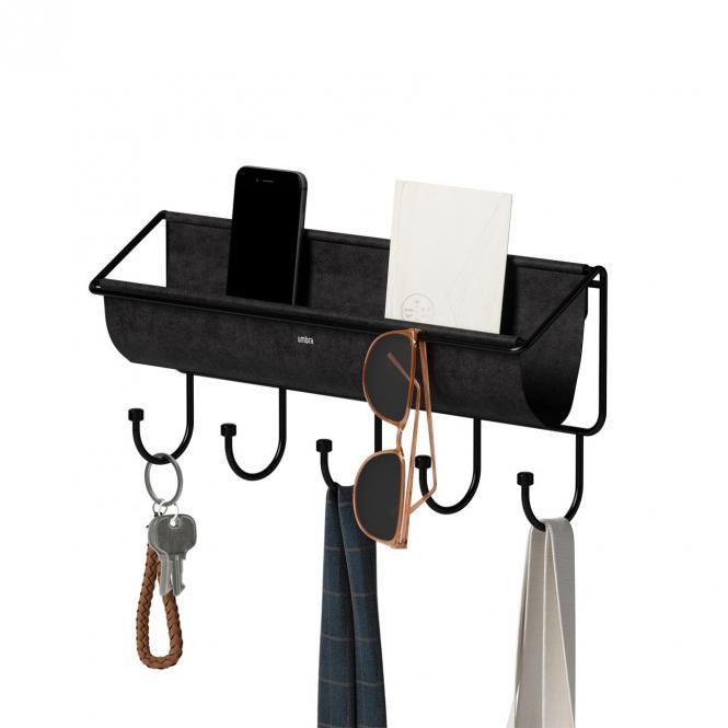 Hängende Schlüsselablage, Wandorganizer Hammock, schwarz