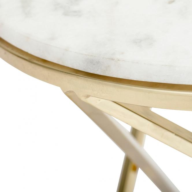 Coffee Table Nuevo aus Marmor mit goldfarbenem Gestell
