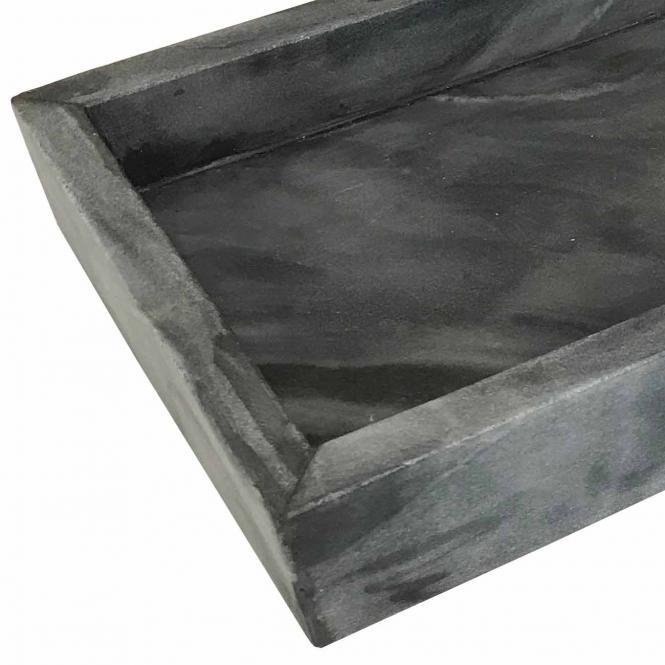 Marmortablett, rechteckig dunkelgrau