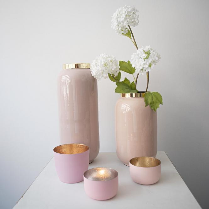 Teelichthalter Madras M mahagony rose matt/rosegold 3er Set