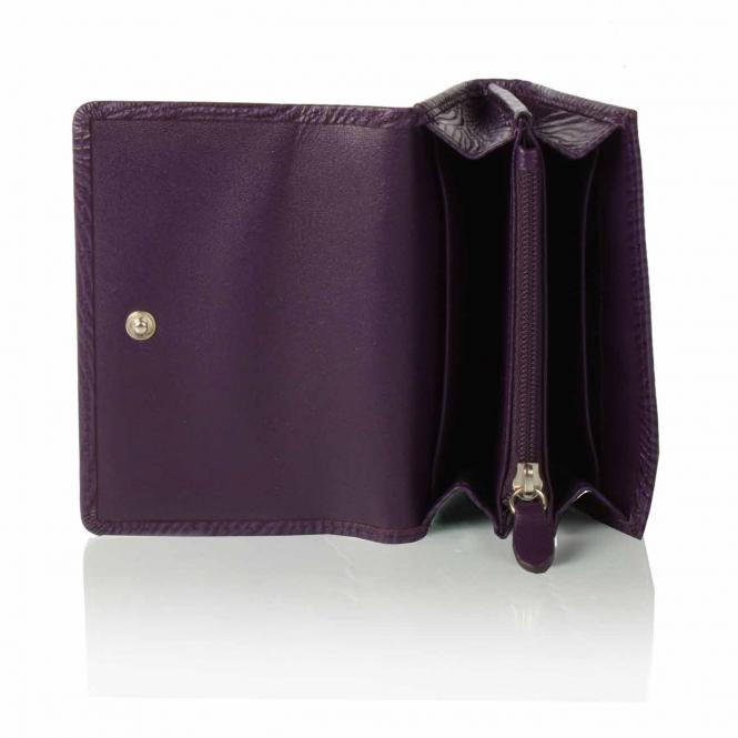 Foldover Wallet, small purple