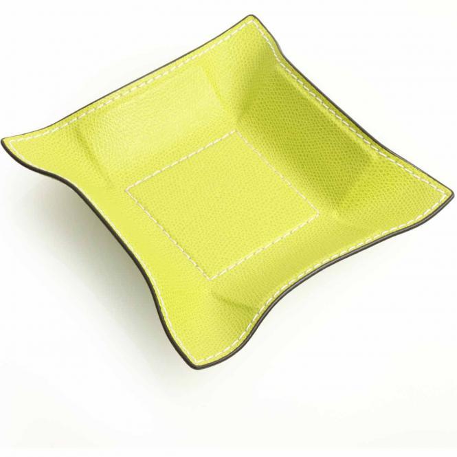 Lederablage Jack quadratisch S, lime