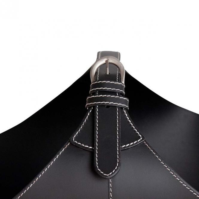Kaminholzkorb Leder Korb BRASA zur Aufbewahrung, schwarz