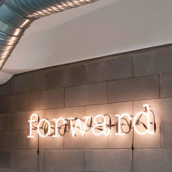 Neon Art Leuchtbuchstabe, Variante Buchstabe A
