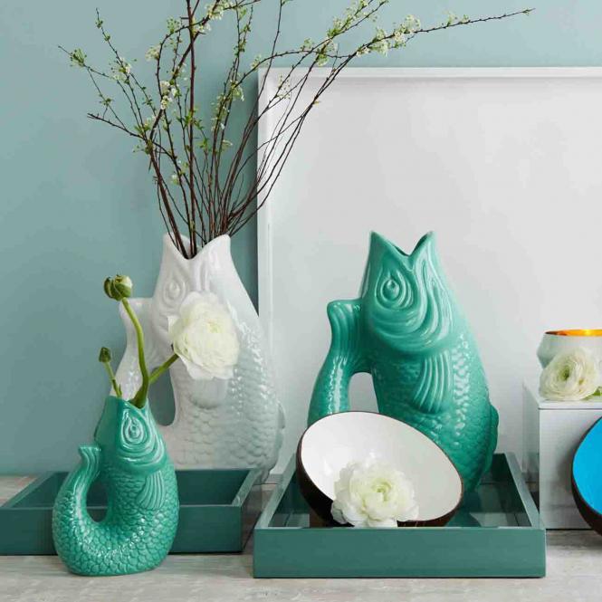 Vase/Krug Monsieur Carafon weiß, groß