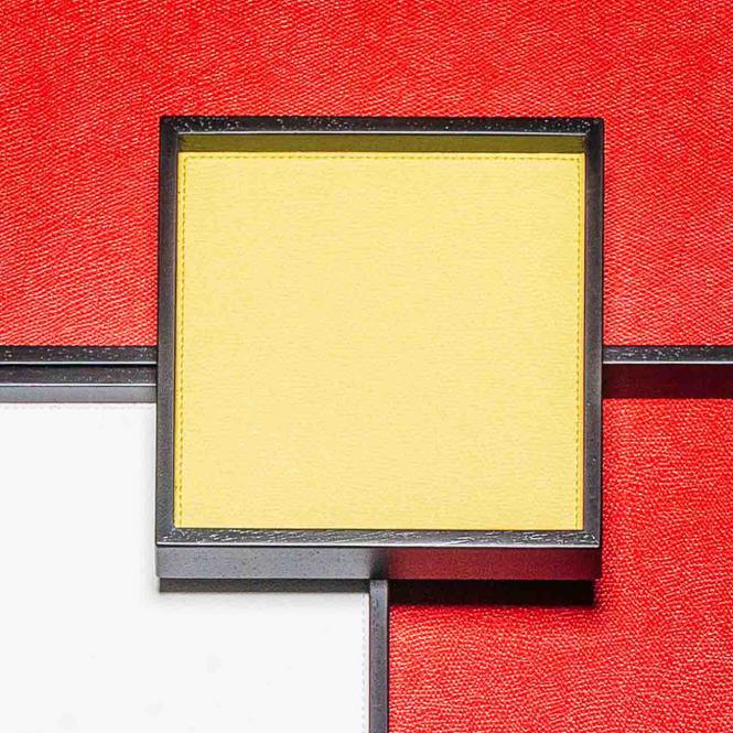 Lederablage Phorma quadratisch small, lemon