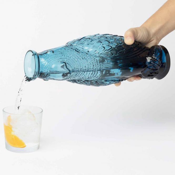 Karaffe Cockatoo von DOIY, blau