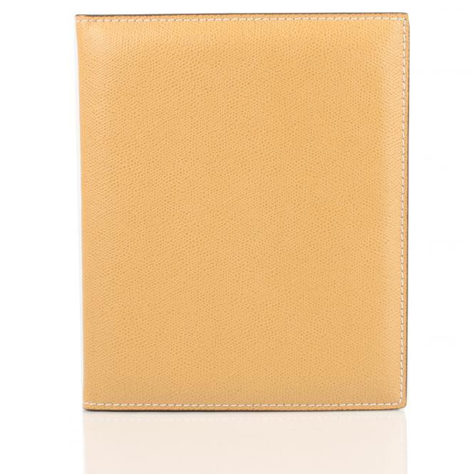 Notizbuch mit Lederhülle aus Glattleder A4, sand