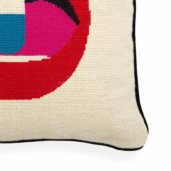 Kissen Lips Full Dose Needlepoint Throw Pillow von Jonathan Adler