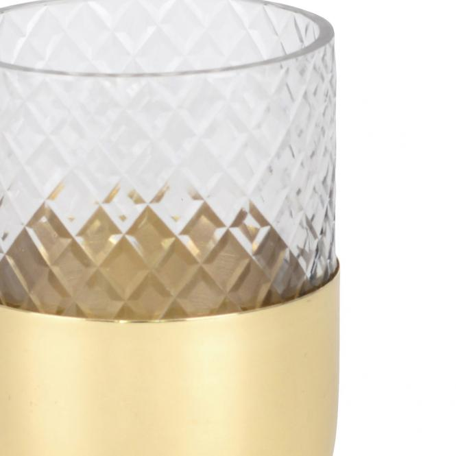 Windlicht Glas Marylebone goldfarben, S