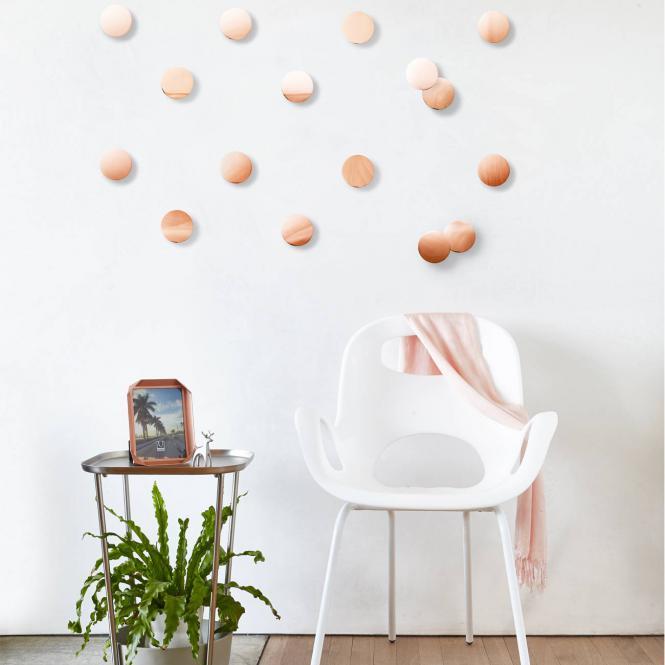 """Wanddekoration """"Confetti"""" Dots, kupferfarben"""